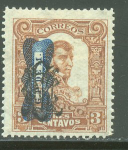 MEXICO 553, 3¢ CORBATA & VILLA MONOGRAM REVOLUT OVPT. UNUSED, H OG. VF.