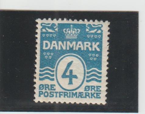 Denmark  Scott#  60  MH  (1905 Wavy Lines)