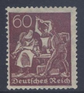 GERMANY. -Scott 144 - Definitives -1921 -VFU - Red Violet -Single 60pf Stamp