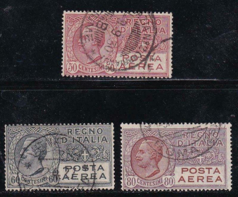 Italy 1926-28 SC C3-5 USED