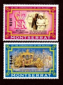 Montserrat 827-828 Mint NH MNH Royal Visit!