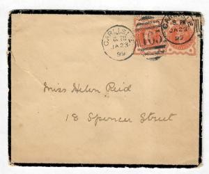 Mourning Cover Ireland 1899 Great Britain Sc#111-Rare
