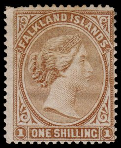 Falkland Islands Scott 4 (1878) Mint H F-VF, CV $85.00 M