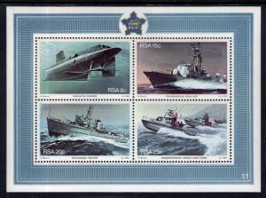 South Africa MNH S/S 563a Naval Vessels 1982