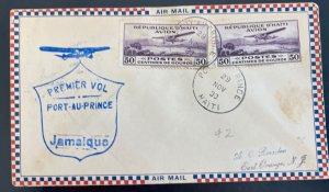 1930 Port Au Prince Haiti First Flight Airmail Cover To Jamaica