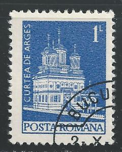Romania #2458 1L Curtea de Arges Monastery CTO