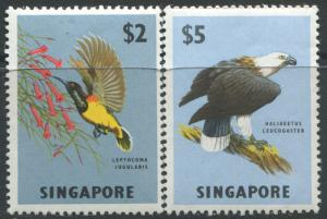Singapore 1963 $2 & $5 Birds unmounted mint NH