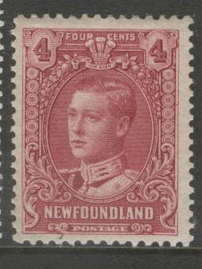 NEWFOUNDLAND 148 1928 4c LILAC ROSE PRINCE OF WALES PICTORIAL ISSUE MNH