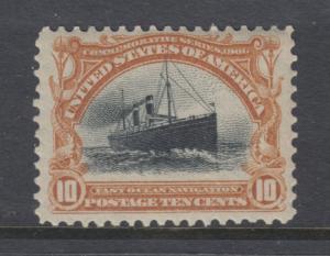 US Sc 299 MNH. 1901 10c yellow brown & black Pan-American Expo, fresh, well ctrd