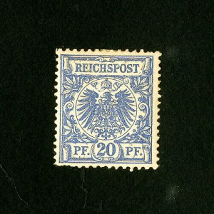 Germany Stamps # 49a F-VF OG Hinged Prussian Blue Catalog Value $2,250.00