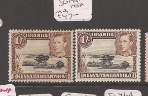 Kenya, Uganda and Tanganyika SG 144, 145a MOG (4cfl)