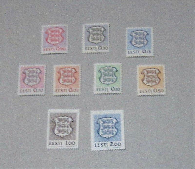 Estonia - 200-08, MNH Set. National Arms. SCV - $5.45