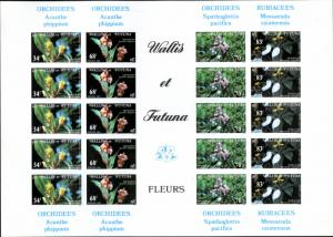 WALLIS & FUTUNA 283-6  IMPERF SHEET OF 4 SETS SCV $88.00 BIN $40.00