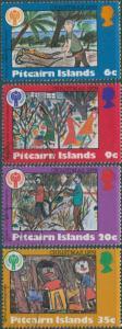 Pitcairn Islands 1979 SG200-203 Christmas set FU