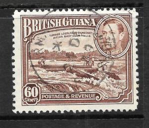 BRITISH GUIANA  1938-52  60c  PICTORIAL  FU  SG 315