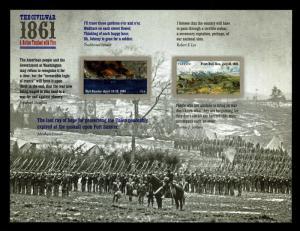 US.#4523 Civil War 1861 Pane of 12 Self Adhesive Forever Stamps - CV$12 (E#572)
