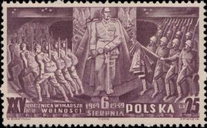 POLOGNE / POLAND - 1939 - Mi.356 25Gr Dark Lilac 25th Anniv. Polish Legion - MNH