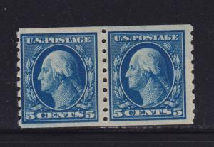 396 pair F-VF OG previously hinged with nice color cv $ 160 ! see pic !