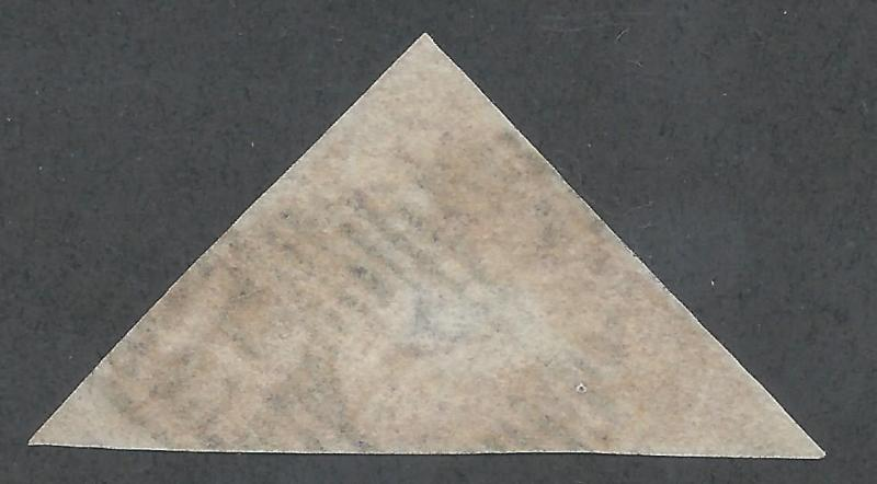 CAPE OF GOOD HOPE 1855 TRIANGLE 1D PERKINS BACON PRINTING