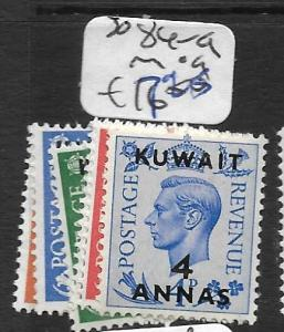 KUWAIT  (P2005B)   ON GREAT BRITAIN KGVI SG 84-9  MOG