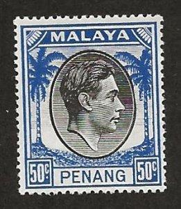 MALAYA - PENANG  SC# 19  FVF/MNH