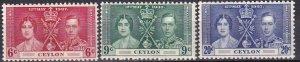 Ceylon #275-7 MNH CV $16.00  (Z9613)