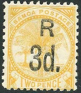 Samoa SG76a 3d on 2d yellow M/M Cat 11 pounds