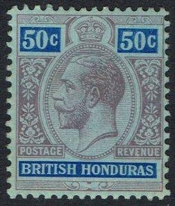 BRITISH HONDURAS 1913 KGV 50C