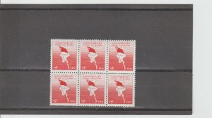 Burma  Scott#  172  MNH Block of 6  (1963 Map & Flag of Burma)
