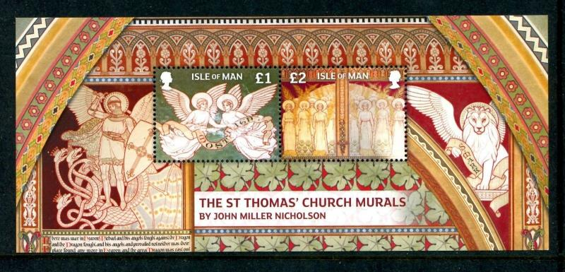 Isle of Man 1595 MNH The St Thomas' Church Murals by John Miller Nicholso x17462