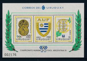 [44500] Uruguay 1978 Sports World Cup Soccer Football Argentina MNH Sheet