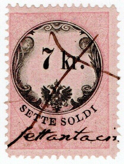 (I.B) Austria/Hungary Revenue : Stempelmarke 7kr (Lombardy-Venetia)