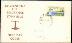 New Zealand, Worldwide First Day Cover, Lighthouses