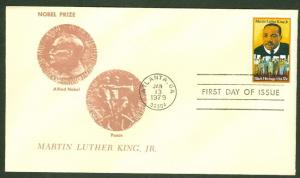 MARTIN LUTHER KING JR FDC W/ALFRED NOBEL