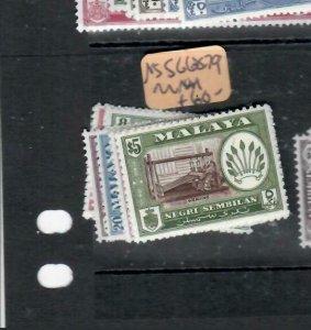 MALAYA  NEGRI SEMBILAN  (P1606B)  SG  68-79    MNH