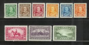 Canada 217-225 MNH King George V (A)