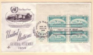 United Nations FDC Sc. # 70 General Assembly '59     L41