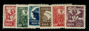 Brazil SC# 365 - 370 Mint Hinged / Hinge Rem / Sm Gum Thin #365 - S7134
