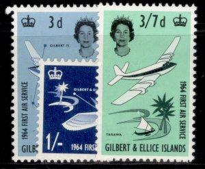 GILBERT AND ELLICE ISLANDS QEII SG82-84, complete set, M MINT.