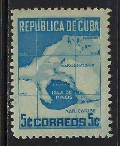 CUBA 437 MNH TONING MAP A1275