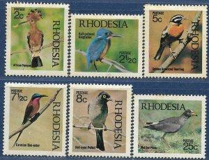 Rhodesia sg 459-64 MH 1971 Set Native Birds