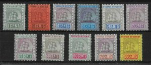 BRITISH GUIANA SG240/50 1905-7 MULT.CROWN CA DEFINITIVE SET MTD MINT