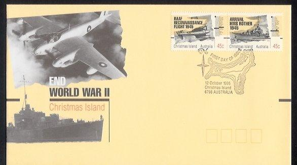 Christmas Island - 1995 50th Anniv of End of Second World War (FDC)