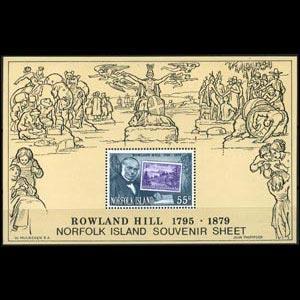 NORFOLK IS. 1979 - Scott# 248a S/S R.Hill NH