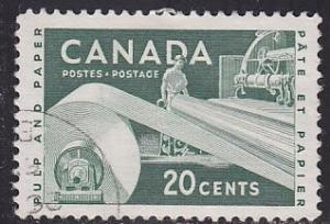 Canada 362 Hinged Used 1956 Paper Industry