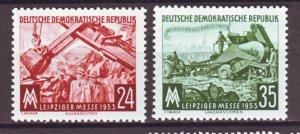 J22276 Jlstamps 1953 germany ddr set mnh #172-3 machines