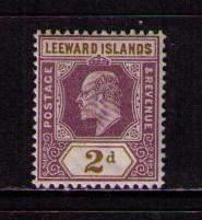 LEEWARD ISLANDS Sc# 22 MH FVF WMK2 King Edward VII