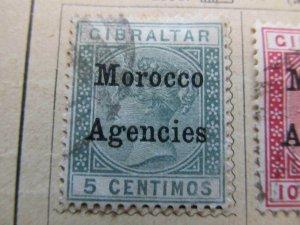 British Morocco 1899 Wmk Mult Crown CA 5c fine used stamp A11P30F7