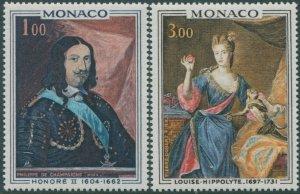 Monaco 1969 SG958-959 Paintings set MNH