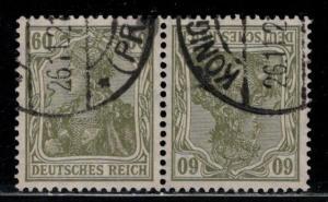 Germany Scott # 126a, used, tete beche, K4
